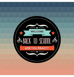 Poster back to schooltypography vector