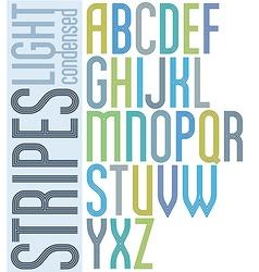 Poster retro triple striped font condensed vector