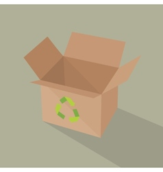 Recycle brown box packaging vector