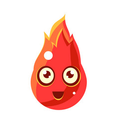 red fire element in flamesegg-shaped cute vector image vector image