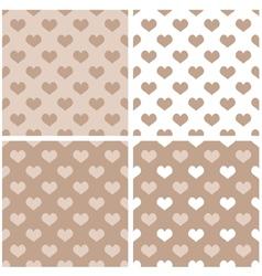 Seamless pastel hearts wallpaper background set vector