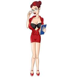 Sexy secretary vector