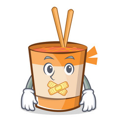 Silent cup noodles character cartoon vector
