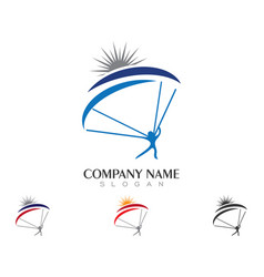 Sky diving logo template vector