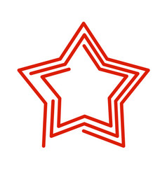 Star line style red abstract sign on white vector