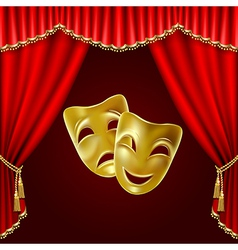 Theatrical masks vector image vector image