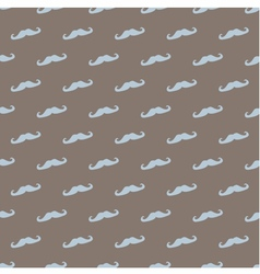 Tile pattern with mustache on brown background vector image