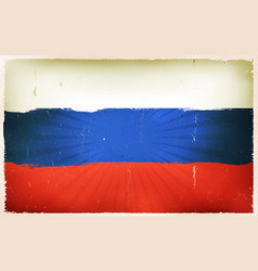 Vintage russian flag poster background vector