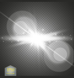white glowing light burst explosion with vector image vector image