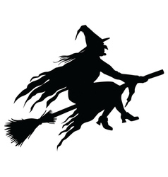 Wicked witch silhouette vector