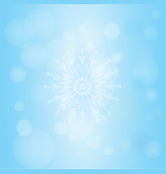 Winter bokeh abstract light background with vector