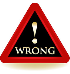 wrong sign icon vector image