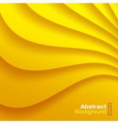 Yellow Wavy background vector image vector image