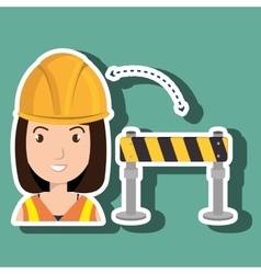 Woman construction tool work vector