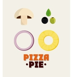 Ingredient of pizza pie design vector