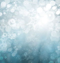 Winter abstract snowflakes vector