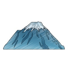 Isolated china mountain design vector