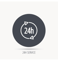24 hours icon customer service sign vector