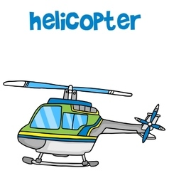 Transport of helicopter cartoon vector