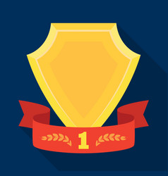 Golden award with red ribbonthe medal of valor vector