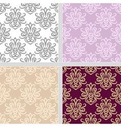 Seamless ethnic summer pattern set vector image