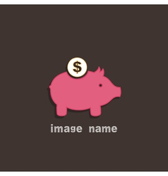Pig coin box vector