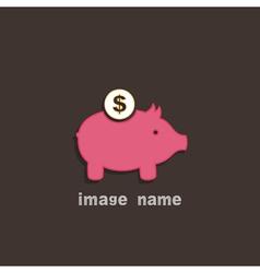 Pig coin box vector image