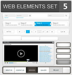 Web elements set 5 vector