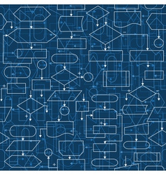 Flowchart diagrams seamless pattern vector