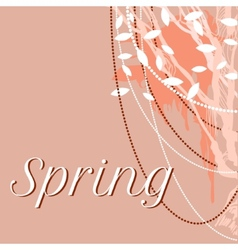 lace delicate background for spring vector image