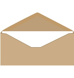 Brown envelope vector
