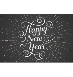 White lettering happy new year for greeting card vector