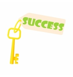 Key to success icon cartoon style vector