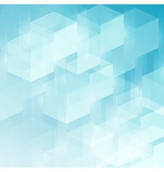 Abstract technology futuristic cubes background vector