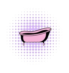 Bath comics icon vector