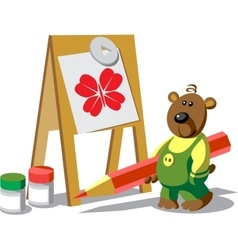 Bear color 12 vector image