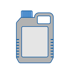 blank plastic canister flat icon packaging for vector image
