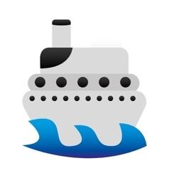 boat cruise cartoon isolated vector image