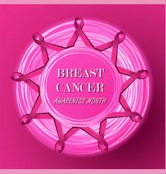 breast cancer awareness pink ribbons vector image vector image