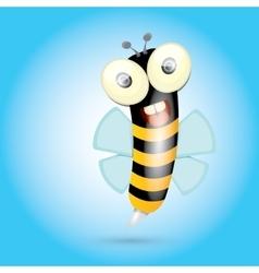 Cartoon cute bright baby bee vector