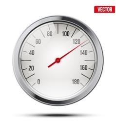 Classic round scale Speedometer vector image