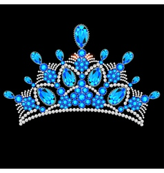 crown tiara women vector image vector image