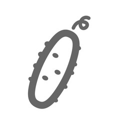 cucumber outline icon vegetable vector image vector image