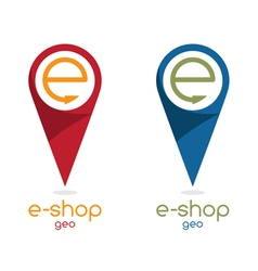 E shop location flat design vector