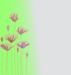 fantasy flower vector image vector image