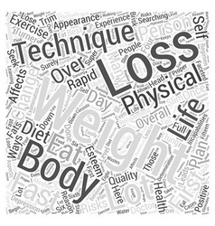 Fast weight loss word cloud concept vector