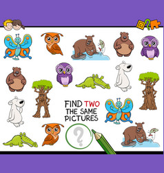 find identical images activity vector image vector image