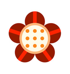 flat icon of a flower colored object on a white vector image vector image
