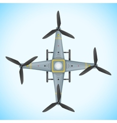 Flat quadcopter drone vector