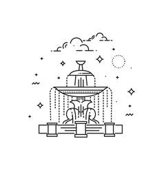 Fountain at place de la concord landmark of paris vector